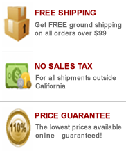 Get FREE ground shipping on all orders over $99,no sales tax for all shipments outside California,The lowest prices available online - guaranteed!, buy bulk and save , Ships same day/>                                                      </div>         <br class=